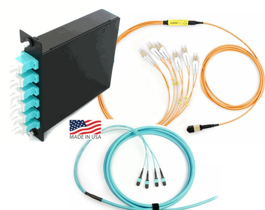 TDS LightWave MTP/MPO Fiber Optics