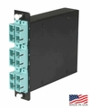Low Loss MTP Cassette, 12 Fiber, SC to Male MTP, Multimode OM3