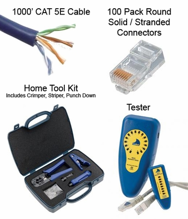Make Your Own Cat5e Cable Kit - Home