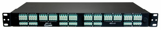 MTP to LC Fiber Optic Breakout Panel, Rear-Interface, Multimode OM4