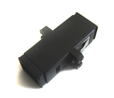 Fiber Optic Coupler, Panel Mount, MTRJ, Singlemode/Multimode, Black