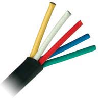RGB Component Cable, 5 Conductor, Wooden Reel, 250'