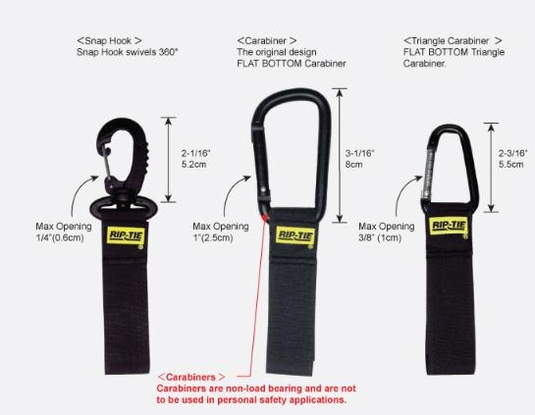 Rip-Tie CableCarrier with Black Triangle Carabiner