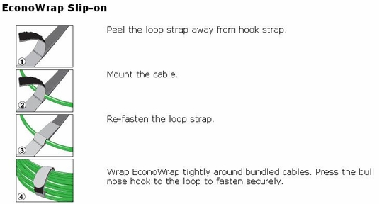 Rip-Tie EconoWrap with Slip-on Attachment, 200-Pack