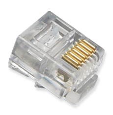 RJ11 (6P6C) Oval Entry, Solid Plugs 100PK