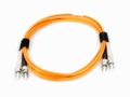 ST-ST Fiber Patch Cable, Multimode 62.5/125 OM1, Duplex