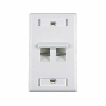 Angled Outlet Faceplate with ID Window, Two Ports