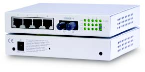 Web based managed 5-port switch with 4 x 10/100 & 1 x 100FX. Singlemode, SC, 40KM