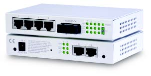 Web based managed 7-port switch with 6 x 10/100 & 1 x 100FX. Singlemode, SC, 40KM