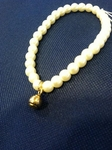 Faux Pearl Gold or Silver Tennis Ball Bracelet