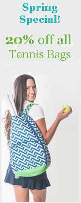 Tennis Bag Special 20% off all Bags! Use code bg20