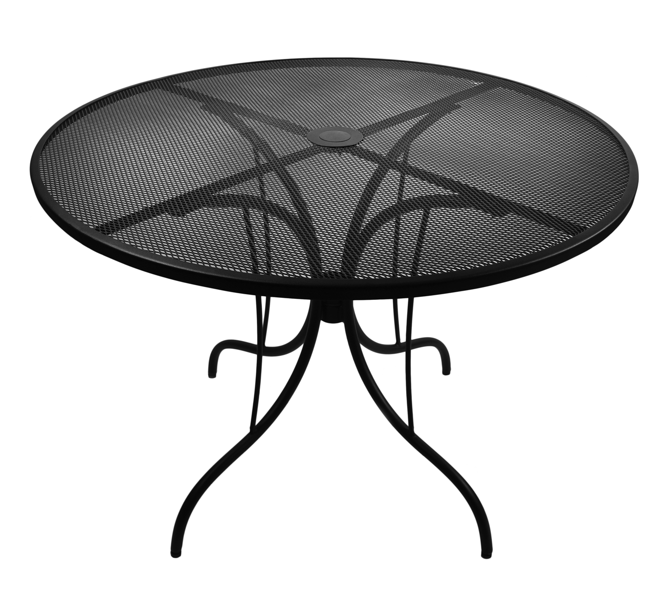 Commercial metal outdoor furniture - 42 Round Galvanized Steel Mesh Commercial Outdoor Table Top