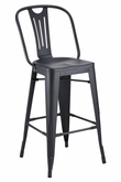 Hektor Collection Black Powder Coated Bar Stool
