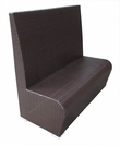 "Cayman Collection Synthetic Wicker 48"" Booth"