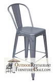 Commercial Indoor / Outdoor Bar Stool - Silver Viktor Steel Mesh Stool