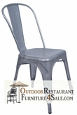 Commercial Indoor / Outdoor Restaurant Chair - Silver Viktor Steel Mesh Chair