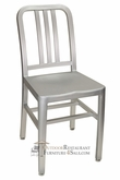 MONEY SAVINGS Commercial Brushed Aluminum Vertical Back Restaurant Chair