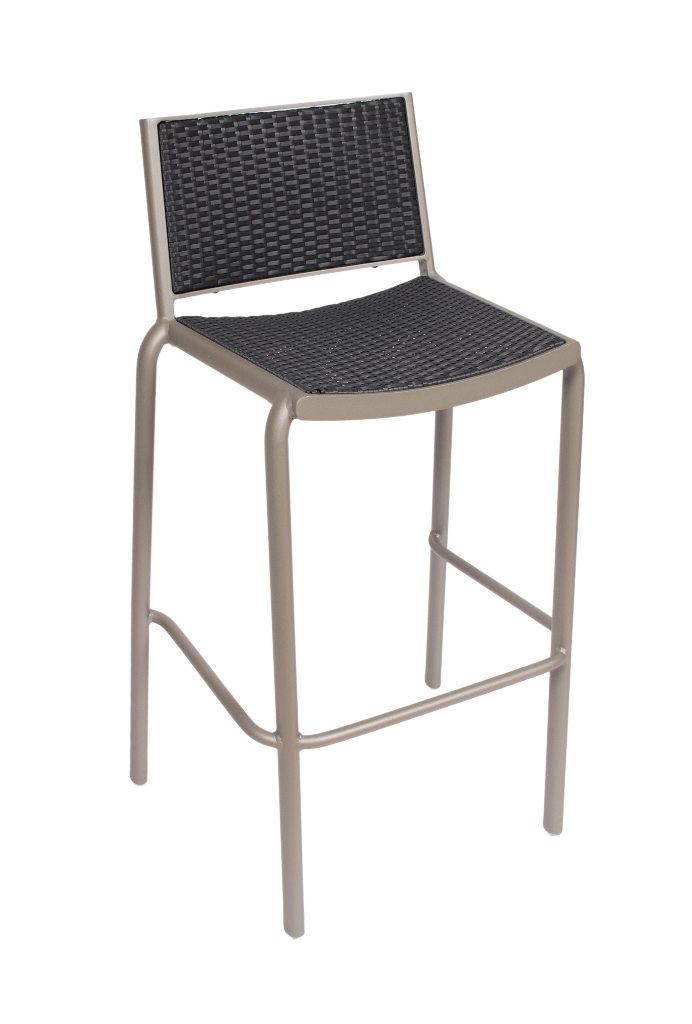 Outdoor Aluminum Frame Synthetic Wicker Bar Stool Cocoa Beach