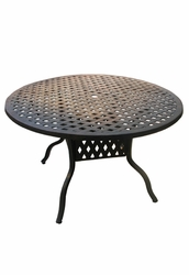 Outdoor Aluminum / Cast Aluminum Table and Base Sets