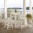 Outdoor Polywood Restaurant Bar Stools <p>Eco-Friendly Furniture