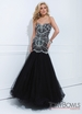 2014 Black Tony Bowls Gown 114746