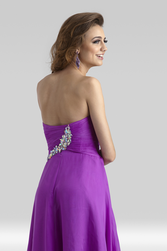 Clarisse 2014 Very Berry Purple Strapless High Low Prom Dress 2307 ...