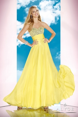 Alyce Citrus Yellow Prom Dress 35588
