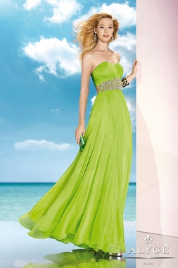 Alyce Lime Green Gown 35590