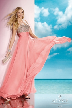 Alyce Paris Coral Prom Gown 35585