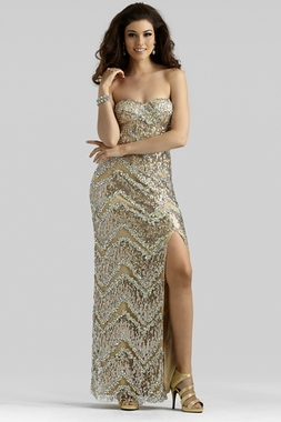 Clarisse Beaded Evening Gown 2376