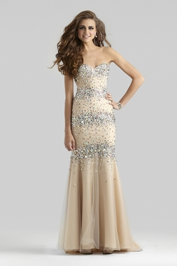 Clarisse Couture Beaded Dress 4301