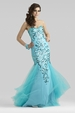 Clarisse Couture Blue Dress 4313