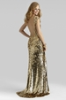 Clarisse Couture Gold Gown 4303