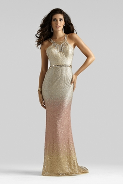 Clarisse Couture Halter Gown 4316