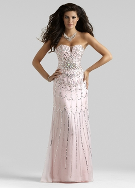 Clarisse Couture Pink Gown 4307