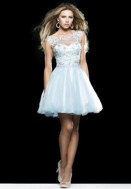 Clarisse Sky Blue Baby Doll Dress 2414