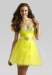 Clarisse Yellow Prom Dress 2337