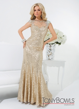 Gold Tony Bowls Prom Dress 114539