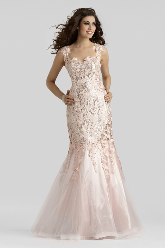 Clarisse 2014 Blush Pink Lace Cap Sleeve Mermaid Prom Gown 2370 ...