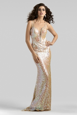 Sequin Prom Dress 2318 by Clarisse