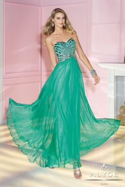 Shimmering Alyce Prom Gown 6193