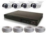 4 Camera IP Surveillance System with 3 MegaPixel High Definition IP Bullet Cameras