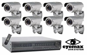 DVHQ-8IR 8 Camera Top of the Line Complete Video Surveillance, Best CCTV System