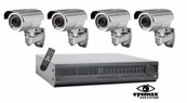 DVHQ4IR - State of the Art 4 Camera Complete CCTV System. Best Quality Professional Grade
