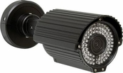 Eyemax IR-6184V Long Range 200ft Infrared Bullet Camera with VF Lens 2.8~12mm, 650TVL Resolution, Dual Voltage 12V DC/24V AC