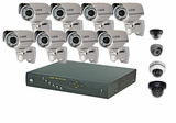 Lite-Series 8 Camera Complete Surveillance System with Outdoor Nightvision CCTV Cameras