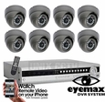 Pro-Series 8 Camera CCTV System Eyemax DVR Vandal Resistant Cameras - Customize It