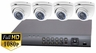 ProTVI Series, Full High Definition 1080p 4 Camera CCTV System with 2 Megapixel Turret Cameras
