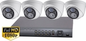 ProTVI Series, Full High Definition 1080p 4 Camera CCTV System with 2 Megapixel Vari-Focal Turret Cameras