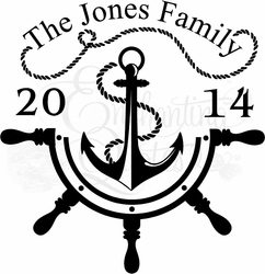 Anchor - Family Established Wall Quote